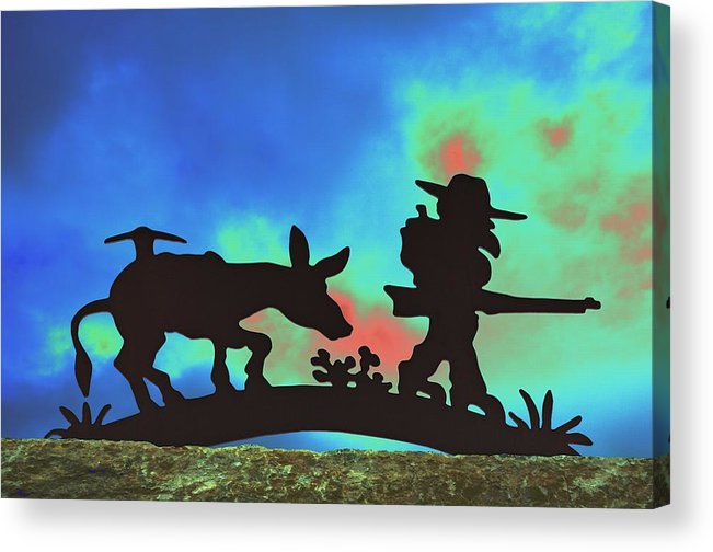 Silhouette Acrylic Print featuring the photograph Prospector's Silhouette by Richard Henne