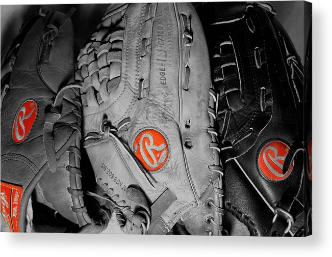Mitt Acrylic Print featuring the photograph Rawlings In Red by Jame Hayes