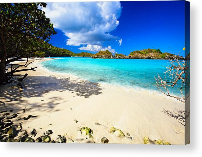 Bathing Acrylic Print featuring the photograph Secluded Beach by George Oze