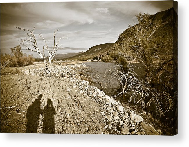 Desert Acrylic Print featuring the photograph Shadows Lurking by Keith Sanders