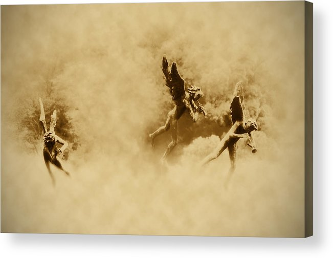 Angels Acrylic Print featuring the photograph Song Of The Angels In Sepia by Bill Cannon