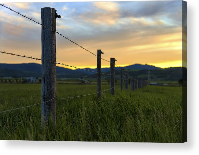 Star Valley Acrylic Print featuring the photograph Star Valley by Chad Dutson