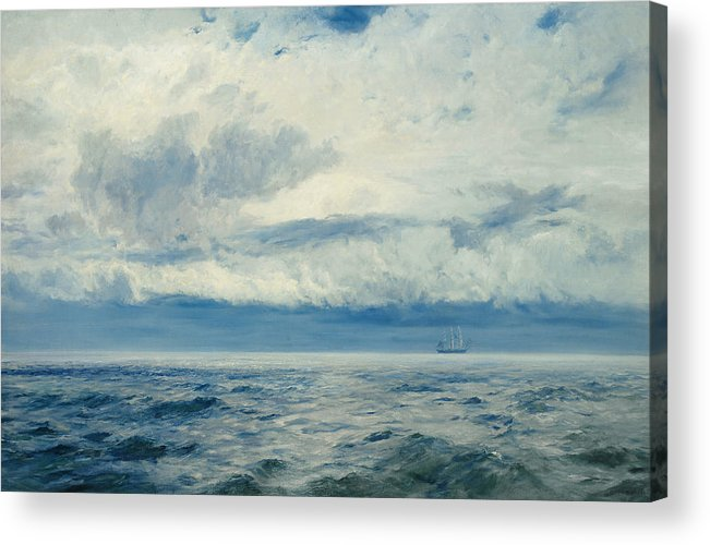 Storm Acrylic Print featuring the painting Storm Brewing by Henry Moore