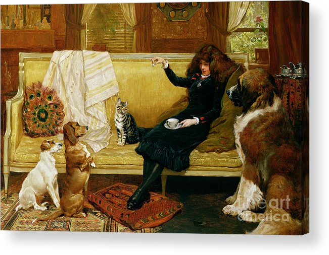 Teatime Acrylic Print featuring the painting Teatime Treat by John Charlton