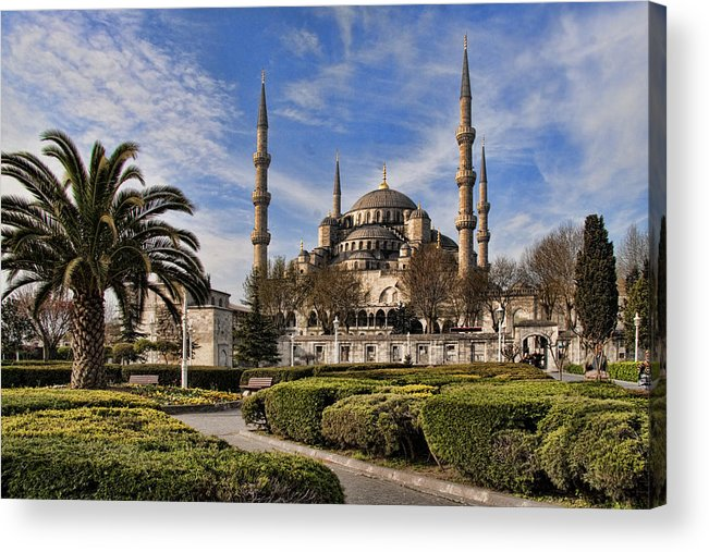 Turkey Acrylic Print featuring the photograph The Blue Mosque In Istanbul Turkey by David Smith