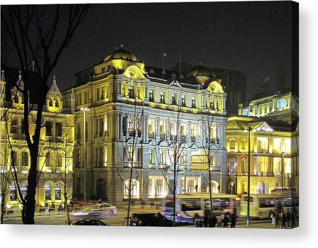Bund Acrylic Print featuring the photograph The Bund - Shanghai's Signature Strip Of Historic Riverfront Architecture by Christine Till