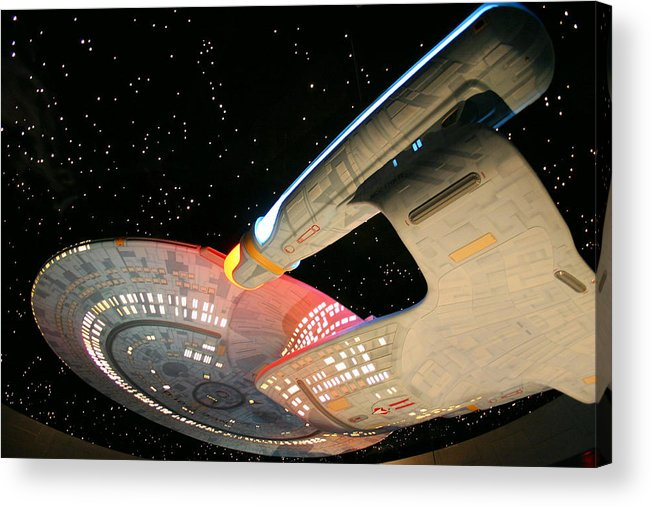 Spaceship Acrylic Print featuring the photograph To Boldly Go by Kristin Elmquist