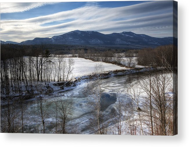North Conway Acrylic Print featuring the photograph Winter In North Conway by Eric Gendron
