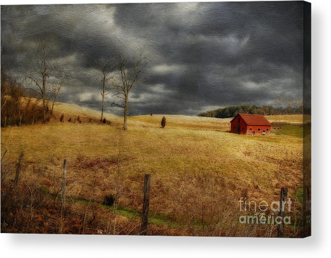 Winter Begins Acrylic Print featuring the photograph Winter Begins by Lois Bryan