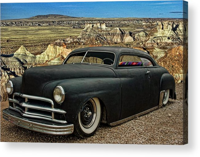 1949 Acrylic Print featuring the photograph 1949 Plymouth Low Rider by Tim McCullough