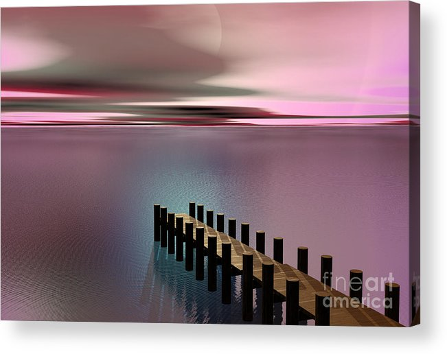 Storm Acrylic Print featuring the painting A Perfect Calm by Barbara Milton