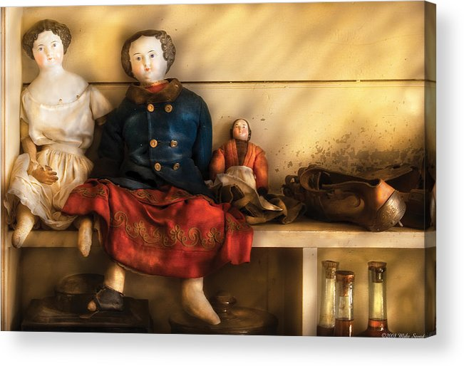 Savad Acrylic Print featuring the photograph Children - Toys - Assorted Dolls by Mike Savad