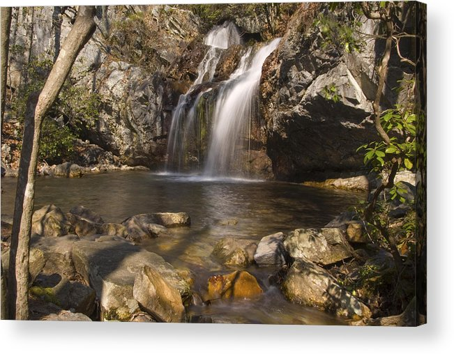 Waterfall Acrylic Print featuring the photograph High Falls Talledega National Forest Alabama by Charles Beeler