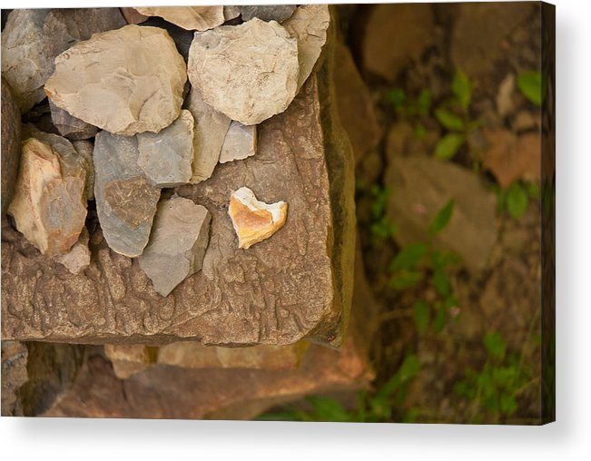 Hearts Acrylic Print featuring the photograph Lonely Heart by Lena Wilhite