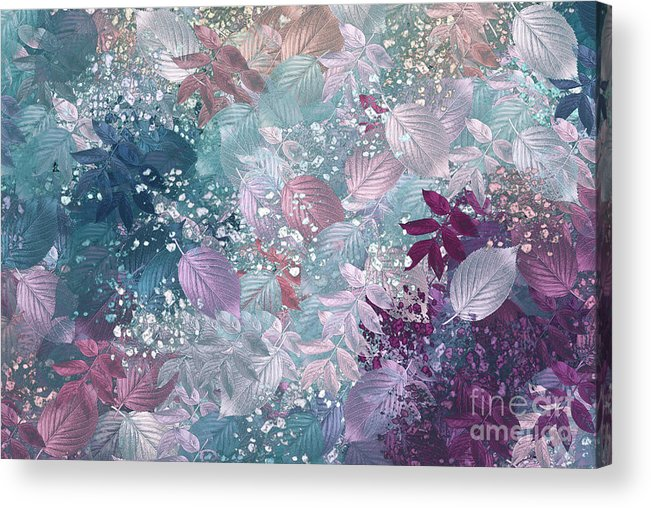 Abstract Digital Art Acrylic Print featuring the digital art Naturaleaves - S1002b by Variance Collections