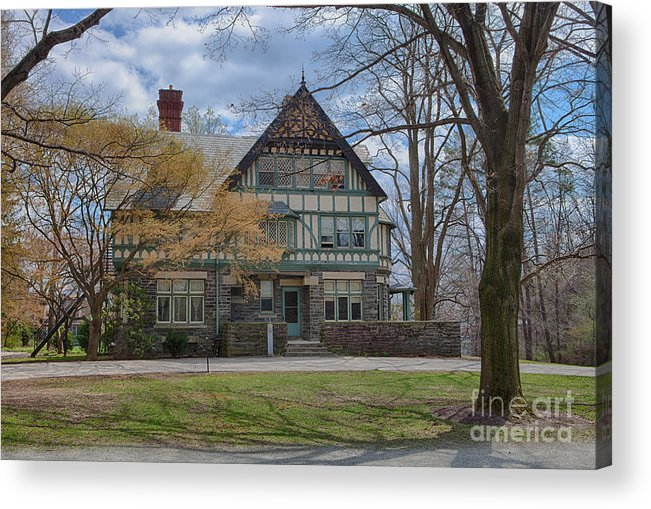 Haverford College Acrylic Print featuring the photograph Old House On Haverford Campus by Kay Pickens