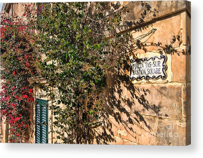 Alexandra Acrylic Print featuring the photograph Pjazza In Mdina by Alexandra Jordankova
