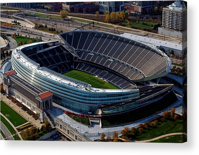 Soldier Field Acrylic Print featuring the photograph Soldier Field Chicago Sports 06 by Thomas Woolworth
