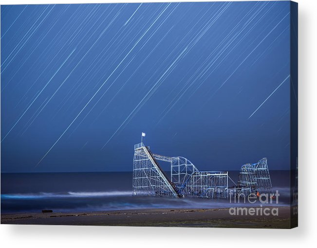 Starjet Acrylic Print featuring the photograph Starjet Under The Stars by Michael Ver Sprill