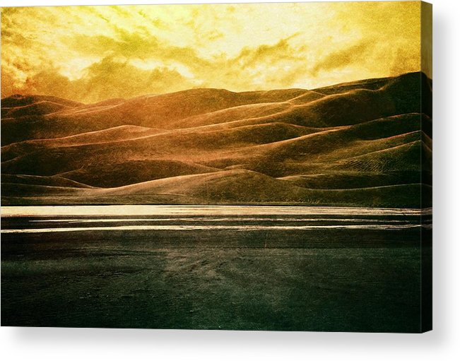Brett Acrylic Print featuring the digital art The Great Sand Dunes by Brett Pfister