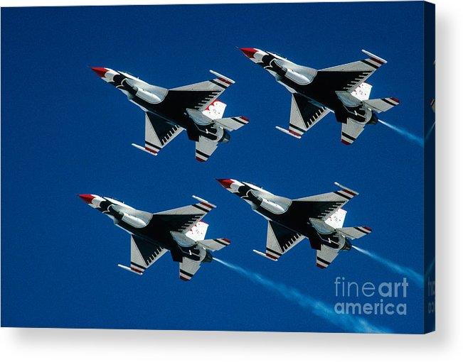 U.s. Air Force Thunderbirds Acrylic Print featuring the photograph Thunderbirds by Larry Miller