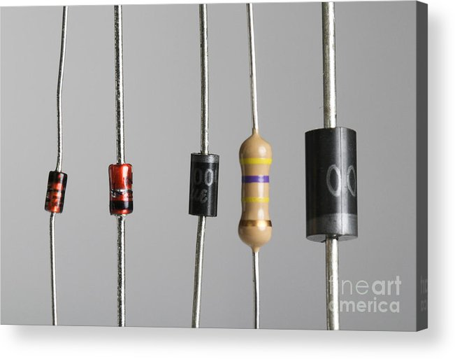 Alternating Current Acrylic Print featuring the photograph Collection Of Electronic Components by Photo Researchers