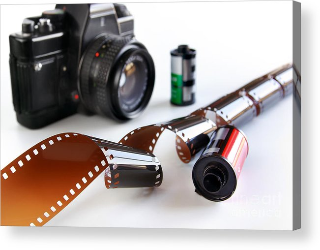 35mm Acrylic Print featuring the photograph Photography Gear by Carlos Caetano