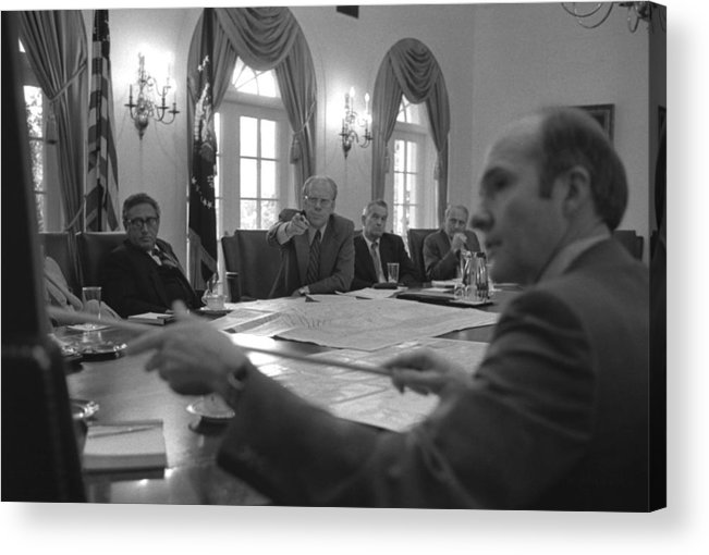 History Acrylic Print featuring the photograph President Gerald Ford And National by Everett