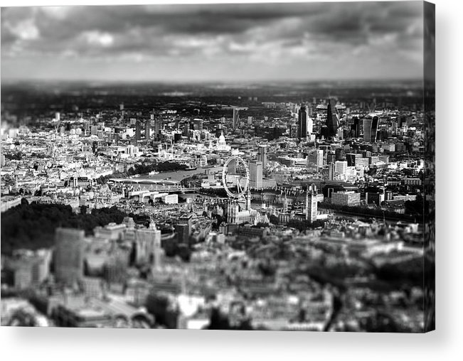 Aerial View Of London Acrylic Print featuring the photograph Aerial View Of London 6 by Mark Rogan