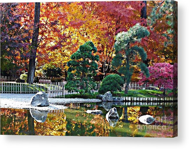 Autumn Acrylic Print featuring the photograph Autumn Glow In Manito Park by Carol Groenen