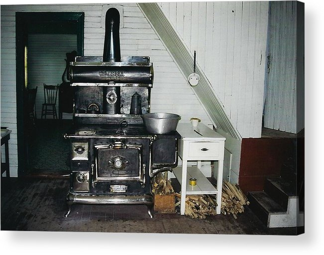 Oldtimers Acrylic Print featuring the photograph Grandma's Kitchen by Shirley Sirois