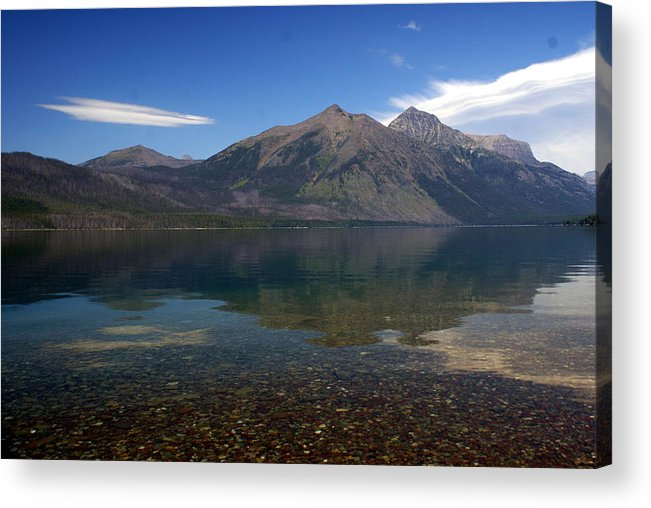 Landscape Acrylic Print featuring the photograph Lake Mcdonald Reflection Glacier National Park 2 by Marty Koch