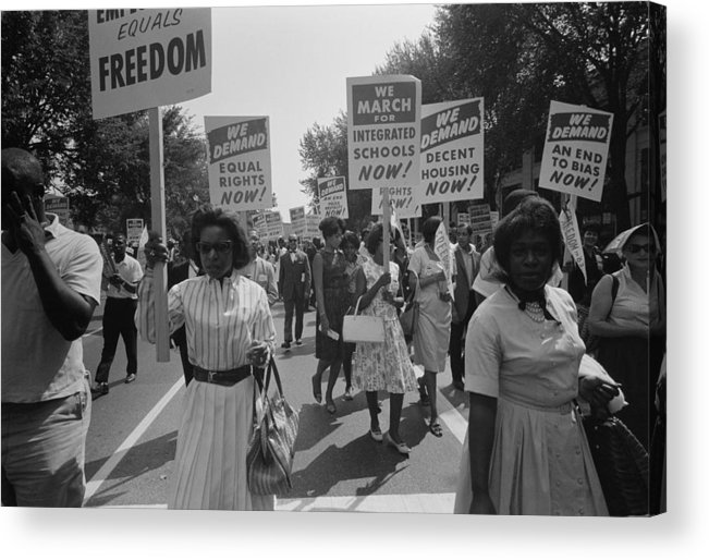 March On Washington. African Americans Acrylic Print by Everett
