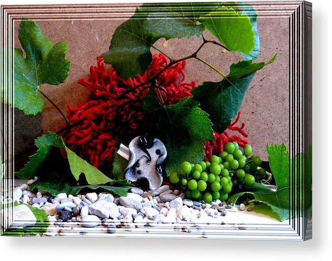 Jewel Acrylic Print featuring the photograph On Pebbles by Chara Giakoumaki