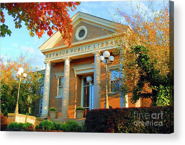 Seymour Acrylic Print featuring the photograph Seymour Public Library by Jost Houk