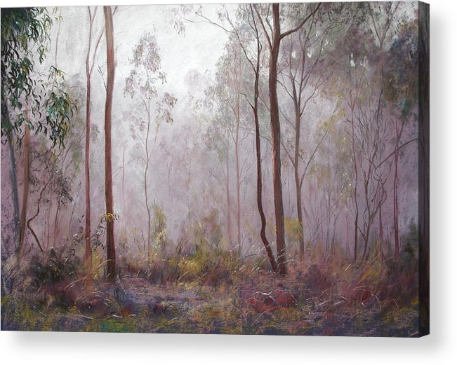 Lynda Robinson Acrylic Print featuring the painting Winter At Wickham by Lynda Robinson