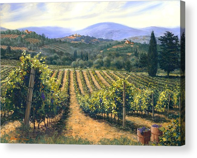 Chianti Vines Acrylic Print featuring the painting Chianti Vines by Michael Swanson
