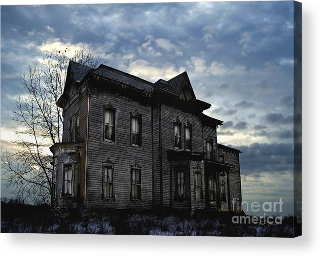 Old House Acrylic Print featuring the digital art Dark Ruttle County by Tom Straub