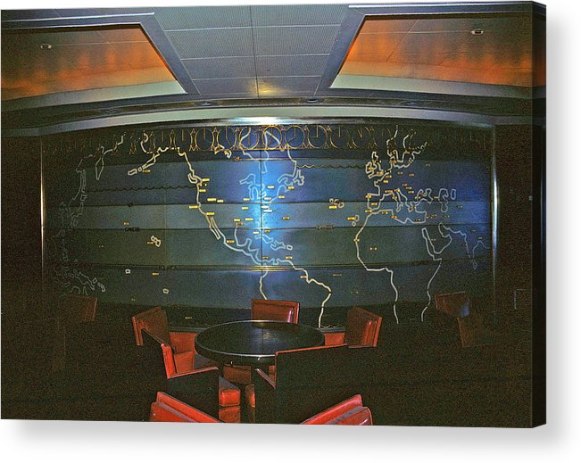 Ss United States 1st Class Smoking Room Framed Print Acrylic Print featuring the photograph First Class Smoking Room by John Harding Photography