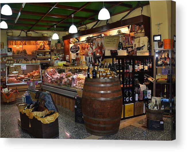 Grocery Acrylic Print featuring the photograph Italian Grocery by Dany Lison