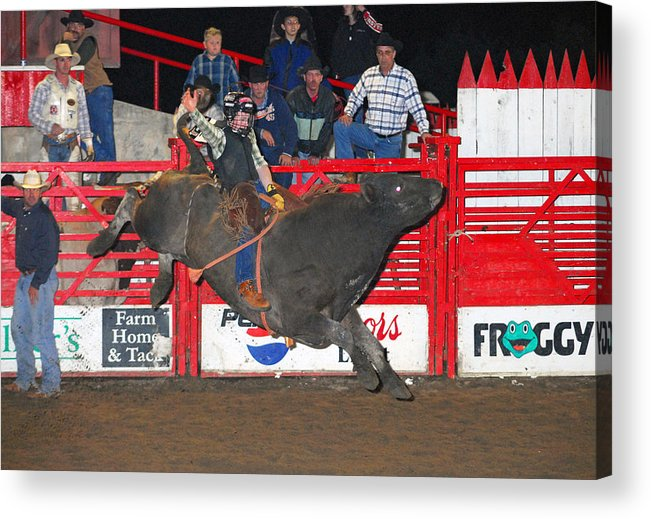 Rodeo Acrylic Print featuring the photograph The Bull Rider by Larry Van Valkenburgh