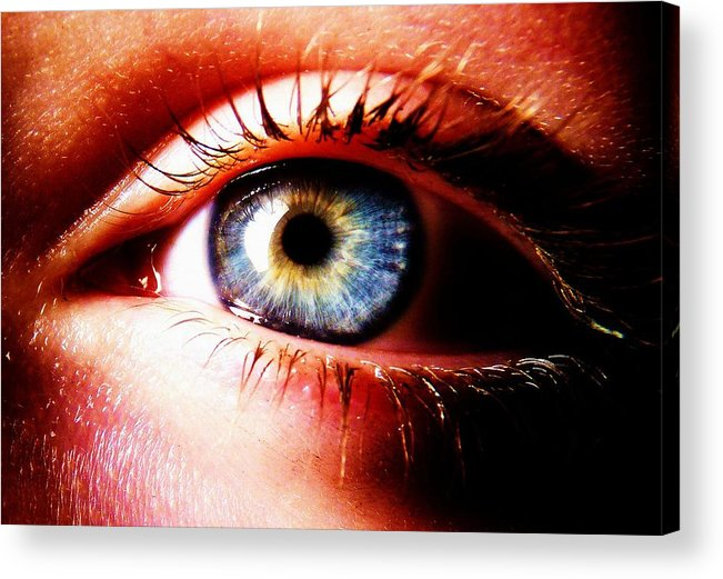 Eye Acrylic Print featuring the photograph This Window To The Soul by Eleanor Bennett