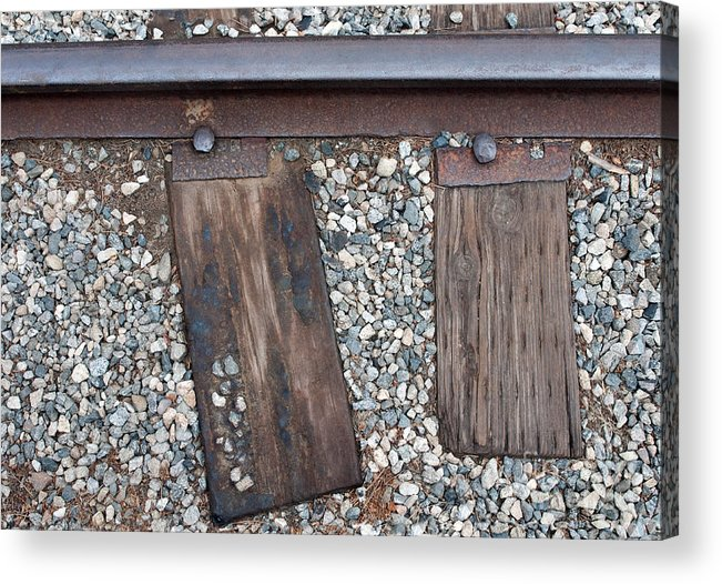 Railroad Acrylic Print featuring the photograph Ties by Dan Holm