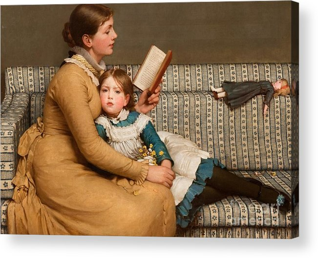 Alice In Wonderland Acrylic Print featuring the painting Alice In Wonderland by George Dunlop Leslie