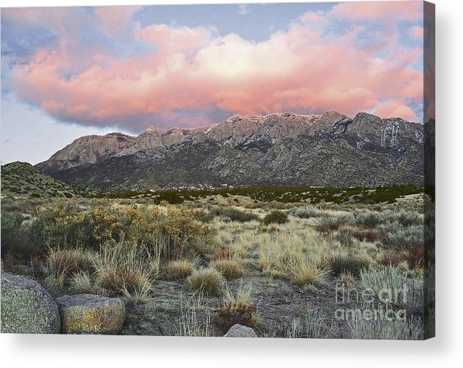 Albuquerque New Mexico Acrylic Print featuring the photograph Fairytale Clouds by Andrea Hazel Ihlefeld