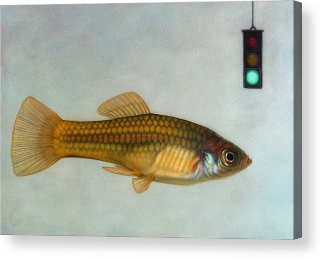 Fish Acrylic Print featuring the painting Go Fish by James W Johnson