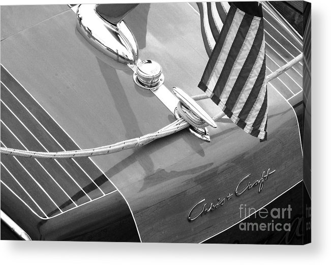 Chris Craft Acrylic Print featuring the photograph Late 1940's Chris Craft Custom by Neil Zimmerman