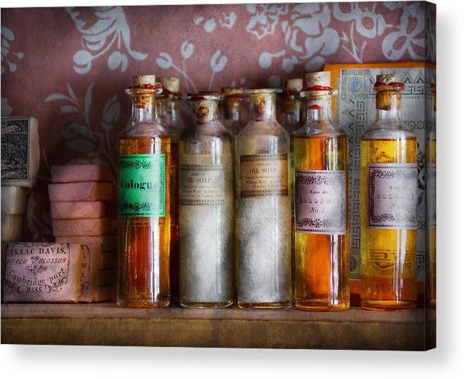 Suburbanscenes Acrylic Print featuring the photograph Doctor - Perfume - Soap And Cologne by Mike Savad