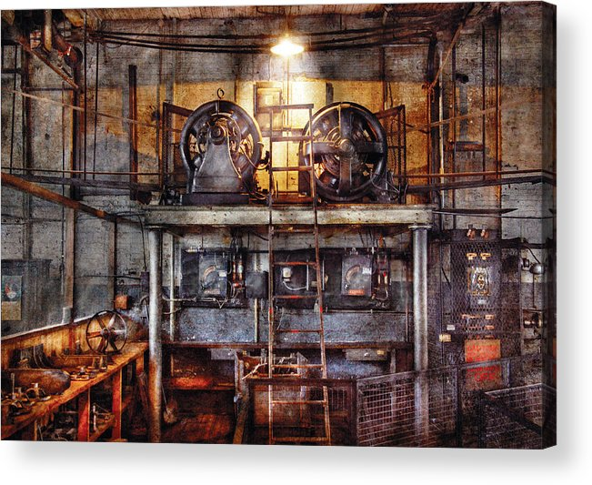 Savad Acrylic Print featuring the photograph Electrician - Turbine Station by Mike Savad