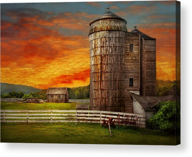 Farm Acrylic Print featuring the photograph Farm - Barn - Welcome To The Farm by Mike Savad